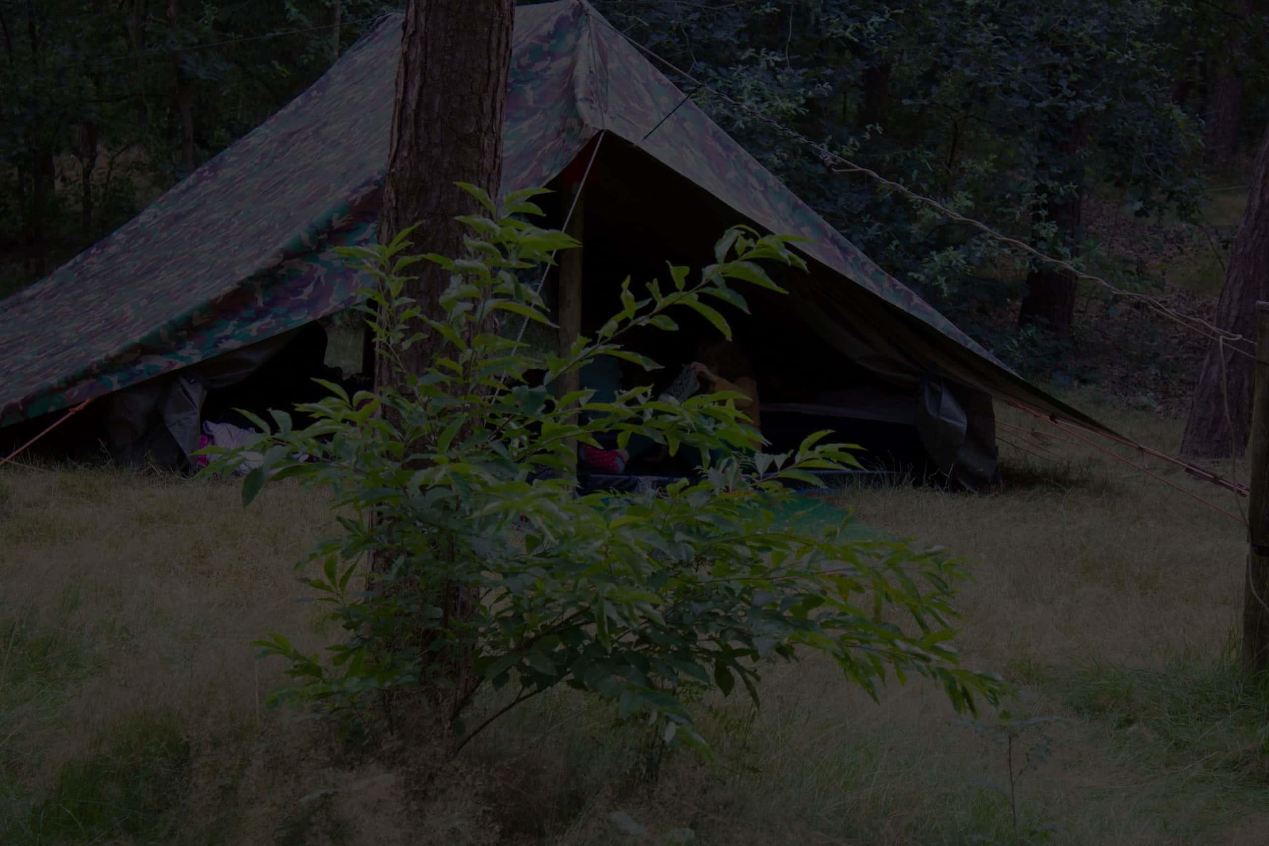 Slapen in tenten